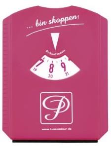 Parkscheibe pink